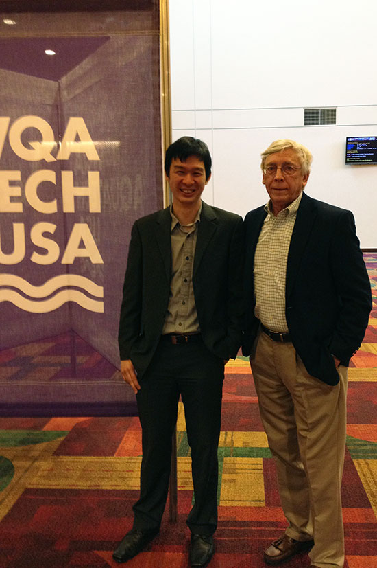 Bill White and Michael Tan at Aquatech
