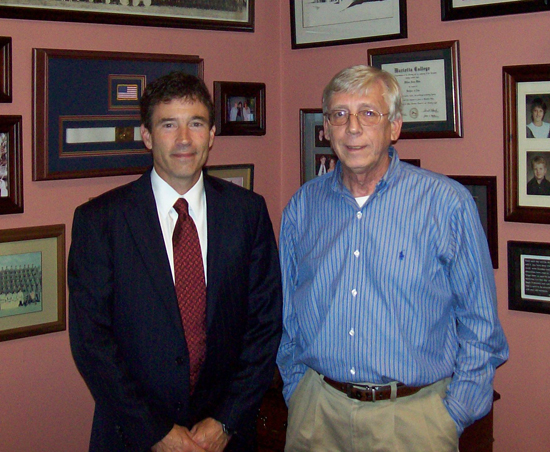 Bill White and Sen. Troy Balderson