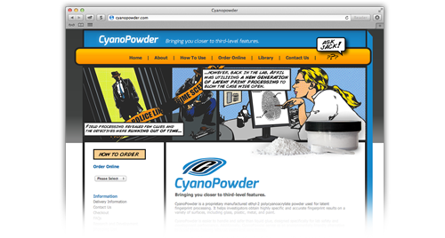 CyanoPowder Website