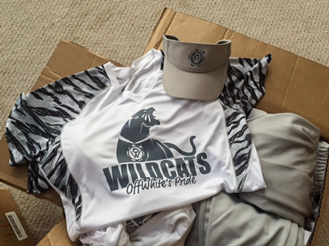 OffWhite Wildcats uniforms